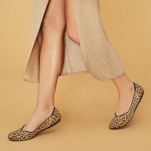 Rothy's Round Toe Spotted Leopard Flat